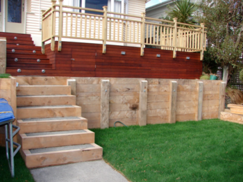 Timber retaining wall design Wellington Kapiti Porirua